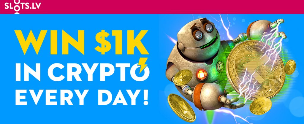 Casino Promotions: Slots.lv $1K Daily June Crypto Giveaway